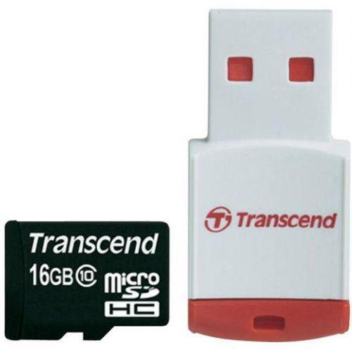 TRANSCEND microSDHC 16 GB Class 10 + RDP3 Card Reader