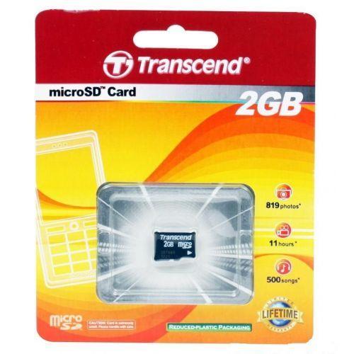 TRANSCEND microSDHC 2 GB no adapter