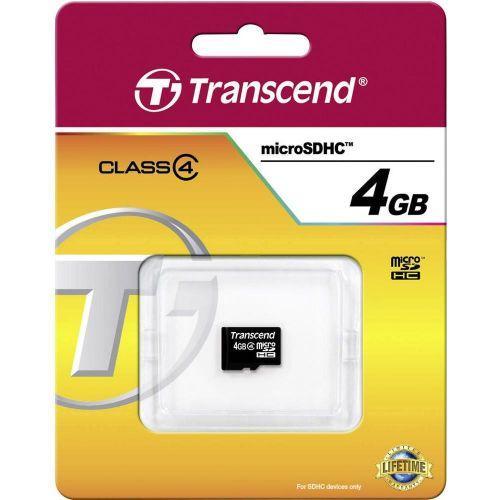 TRANSCEND microSDHC 4 GB Class 4 no adapter