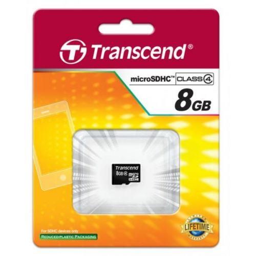 TRANSCEND microSDHC 8 GB Class 4 no adapter