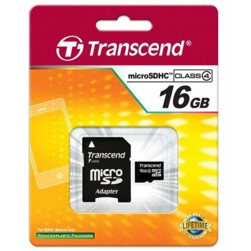 Transend microSDHC 16 GB Class 4 + SD adapter