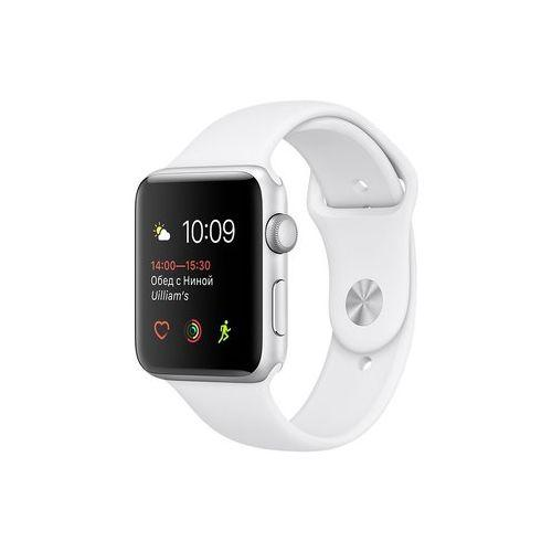 Watch Apple Watch Series 1 42mm Silver Aluminum Case with White Sport Band (MNNL2)