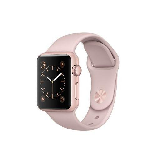 Watch Apple Watch Series 2 38mm Rose Gold Aluminum Case with Pink Sand Sport Band (MNNY2)