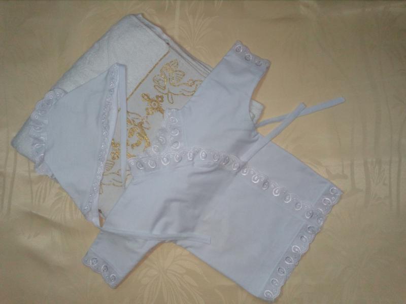 Крестильный набор 3-5 месяцев с полотенцем