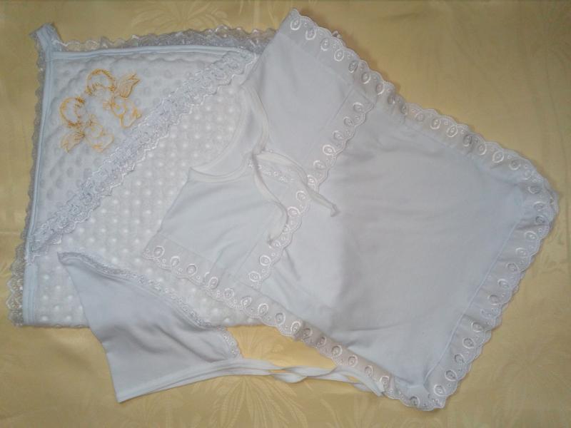 Крестильный набор 5-12 месяцев с полотенцем