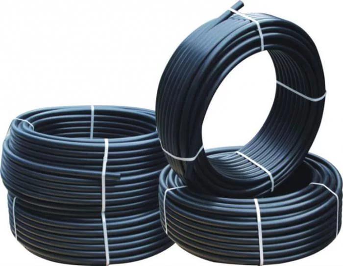 Фото Трубы и фитинг, Полиэтиленовые трубы и фитинг, Труба водопроводная Труба STR ПНД d 40 -2,3 мм (6 атм. черная)