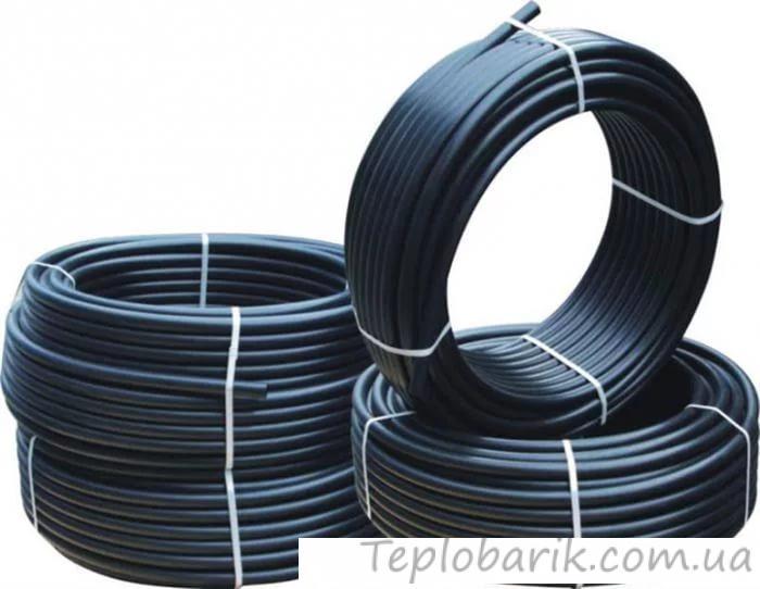 Фото Трубы и фитинг, Полиэтиленовые трубы и фитинг, Труба водопроводная Труба STR ПНД d 63 -3,6 мм (6 атм. черная)