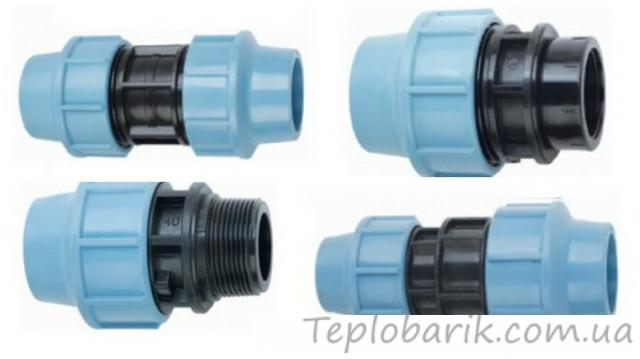 Фото Трубы и фитинг, Полиэтиленовые трубы и фитинг 6065.8.с Муфта  63 х 40 (ПНД, STR)
