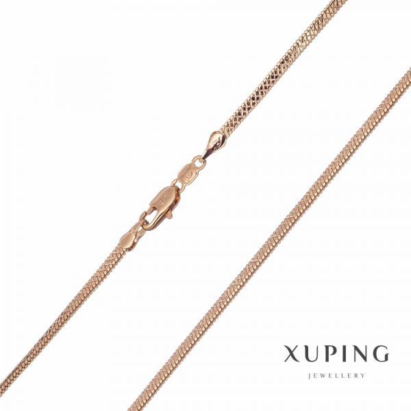 Цепочка Xuping плетение Питон L-45см s-2,5х1,35мм цвет золото