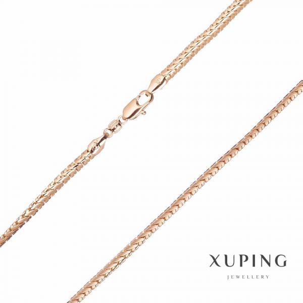 Цепочка Xuping плетение Снек L-45см s-4мм цвет золото