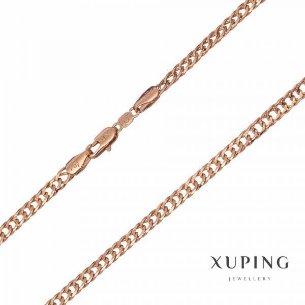 Цепочка Xuping плетение Двойное панцирное витая L-60см s-2,7мм цвет золото