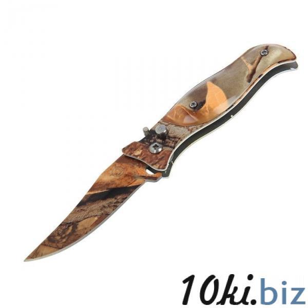 Нож перочинный лезвие clip-point 7,5см, рукоять птица хаки (фиксатор, кнопка) 17см купить в Беларуси - Ножи бабочки