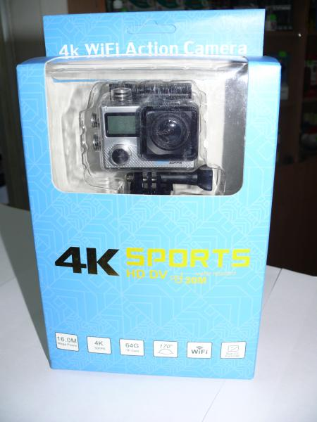 Экшен камера V23 4K, WiFi, с двумя экранами.