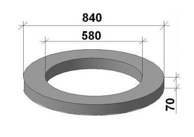Опорное кольцо колодцев КО6, ГОСТ 8020-90, Серия 3.900.1-14