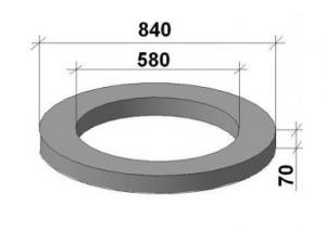 Фото  Опорное кольцо колодцев КО6, ГОСТ 8020-90, Серия 3.900.1-14