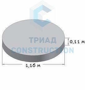 Плита днища колодца ПН10 (диаметр 1 м), ГОСТ 8020-90, Серия 3.900.1-14