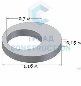 Плита перекрытия колодца ПП10-2 (диаметр 1 м, усиленная), ГОСТ 8020-90, Серия 3.900.1-14
