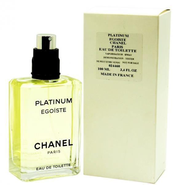 Фото ТЕСТЕРА мужских духов  Духи Chanel Egoiste Platinum Tester 100 ml