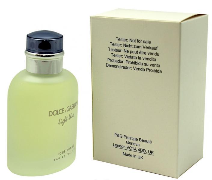 Фото ТЕСТЕРА мужских духов  Духи Dolce & Gabbana Light Blue Pour Homme Tester 125 ml