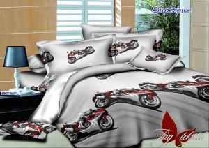 Фото ПОСТЕЛЬНОЕ БЕЛЬЕ ТМ TAG, евро, Ренфорс Комплект постельного белья Superbike