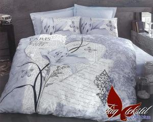 Фото ПОСТЕЛЬНОЕ БЕЛЬЕ ТМ TAG, евро, Ренфорс Комплект постельного белья R-2075blue