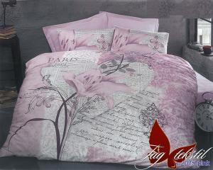 Фото ПОСТЕЛЬНОЕ БЕЛЬЕ ТМ TAG, евро, Ренфорс Комплект постельного белья R-2075pink