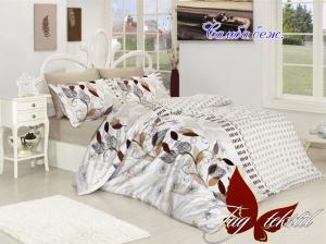 Фото ПОСТЕЛЬНОЕ БЕЛЬЕ ТМ TAG, евро, Ренфорс Комплект постельного белья Самба беж.