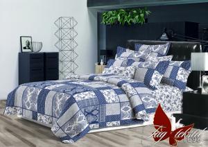 Фото ПОСТЕЛЬНОЕ БЕЛЬЕ ТМ TAG, евро, Ренфорс Комплект постельного белья с компаньоном R1698