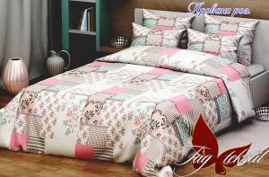 Фото ПОСТЕЛЬНОЕ БЕЛЬЕ ТМ TAG, евро, Ренфорс Комплект постельного белья Прованс розовый