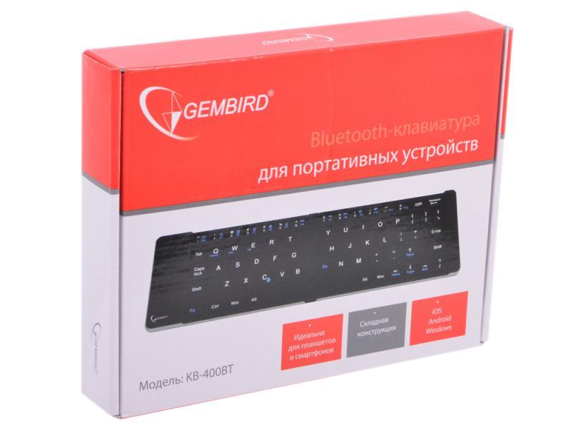 Беспроводная клавиатура Gembird KB-400BT Black Bluetooth