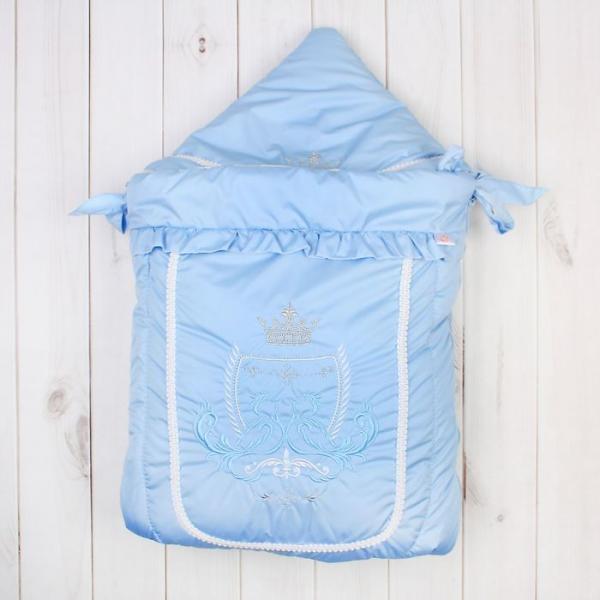 """Конверт меховой """"Бэби Элит"""", рост 62 см, цвет голубой 12022"""