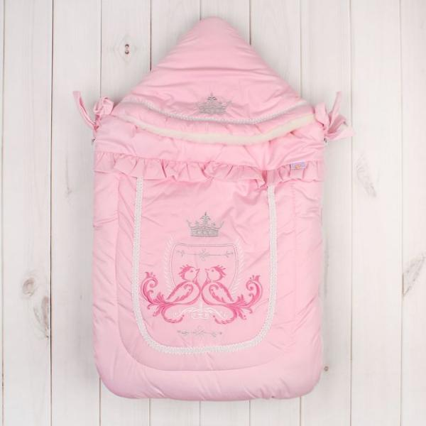 """Конверт меховой """"Бэби Элит"""", рост 62 см, цвет розовый 12026"""