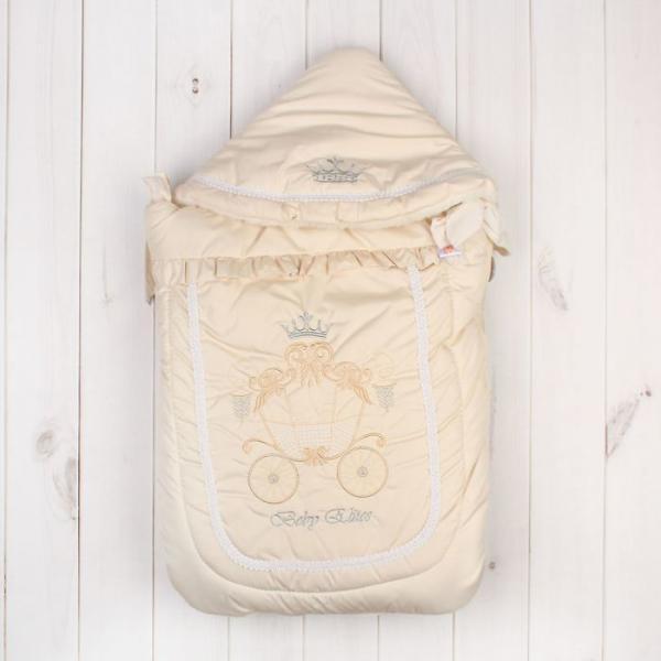 """Конверт меховой """"Бэби Элит"""", рост 62 см, цвет молочный 12023"""