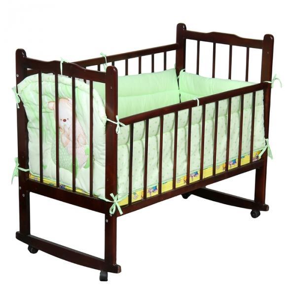 """Бампер """"Мишутка"""", 4 части (2 части: 45х120 см, 2 части 45х60 см), цвет зелёный (арт. 4044)"""