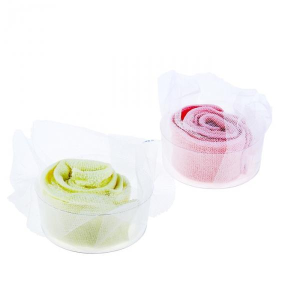 Сувенирное полотенце Роза Япония 22х22 см МИКС