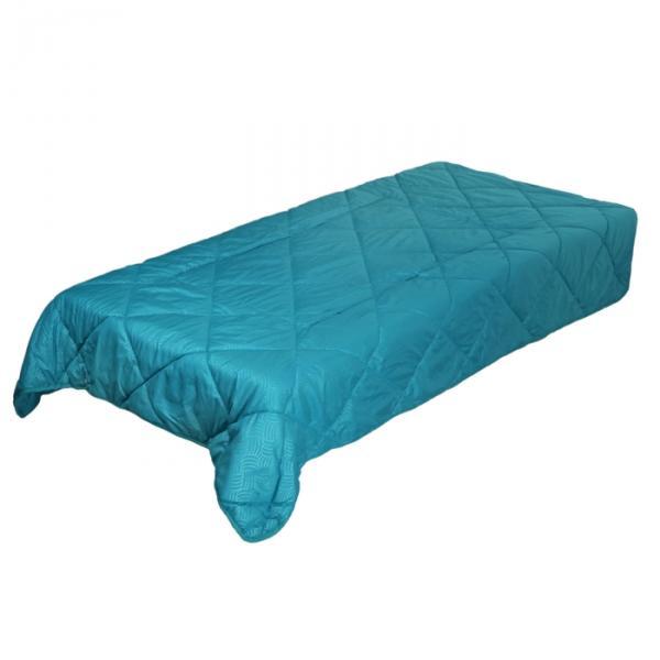 Плед/подушка ОЛ-Текс в пакете 135*200/50*50 см, холфитекс, микрофибра мор.волна/сливочный