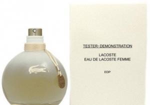 Фото Женская парфюмерия Eau de Lacoste Lacoste (Ж) белая бомбочка ТЕСТЕР
