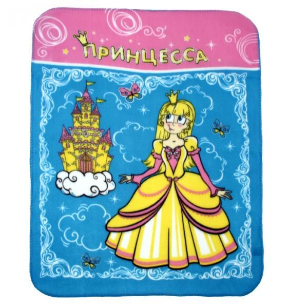 """Плед """"Collorista"""" Принцесса 80*100 см, флис, 180 гр/м2"""