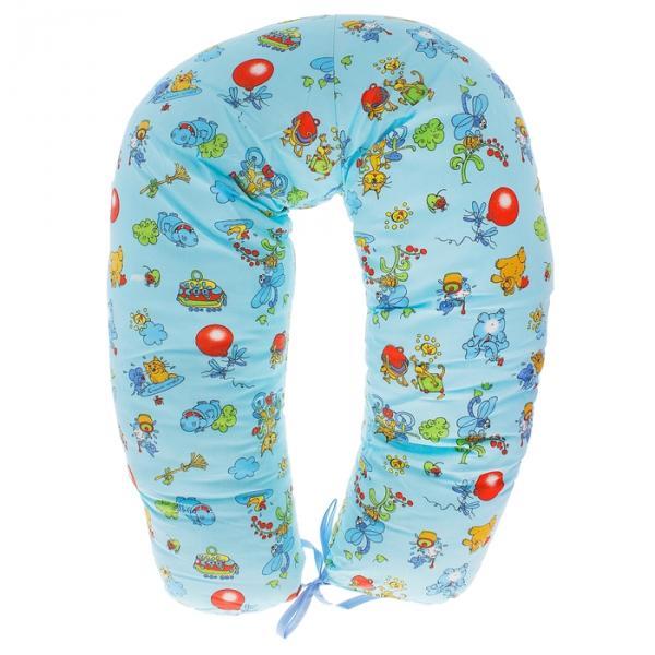 Подушка для беременных и кормления, цвет голубой