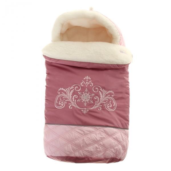 """Конверт меховой """"Метелица"""", рост 74 см, цвет розовый 11996"""