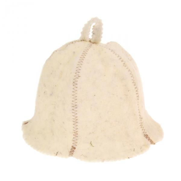 Банная шапка «Кокетка», белая