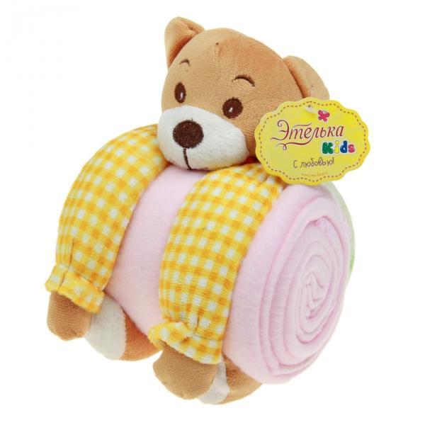 """Набор подарочный для новорождённых """"Этелька"""" 2 пр Мишутка-обнимашка, размер 75х100 см"""