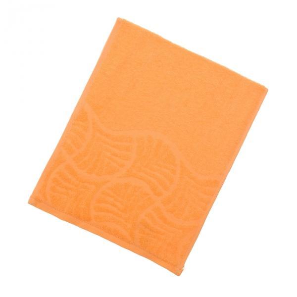 Полотенце махровое «Волна», размер 30х70 см, цвет оранжевый, 300 г/м?