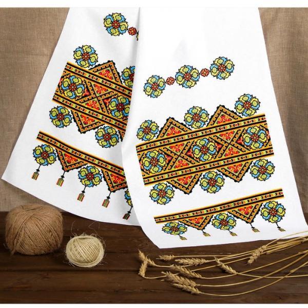 Рушник свадебный «Праздник» с орнаментом