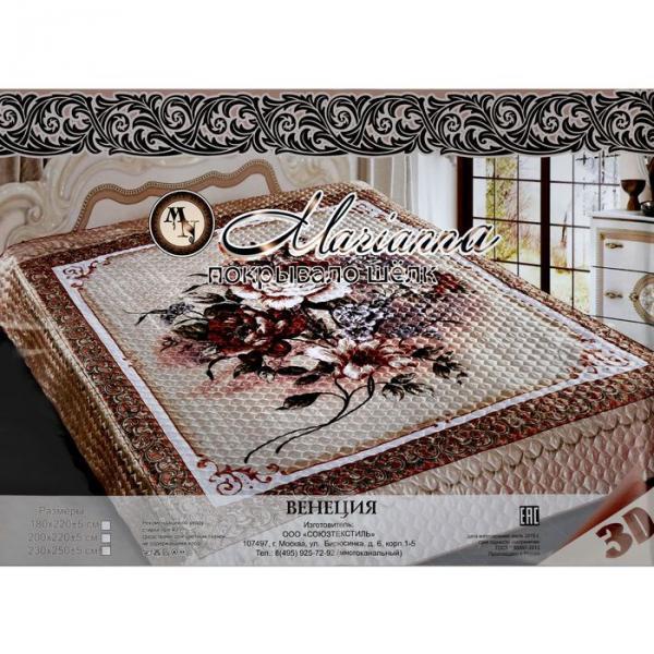 """Покрывало 3D Marianna """"Венеция"""" евро, размер 200х220 см"""