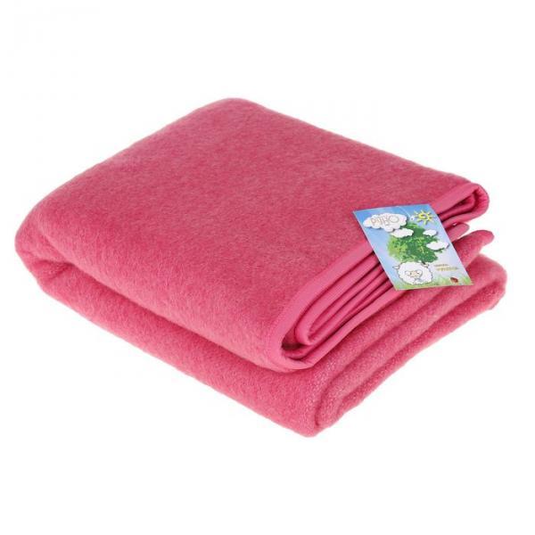 Одеяло детское РУНЯША 100% новозеландская овечья шерсть 100х140 см цв.13