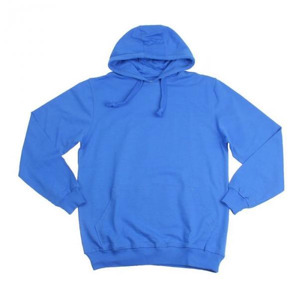 Толстовка унисекс с капюшоном футер синий, р-р 52-54 (XXL)