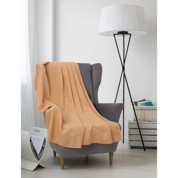 Плед вафельный, размер 150х200 см, 240 гр/м, цвет песочный
