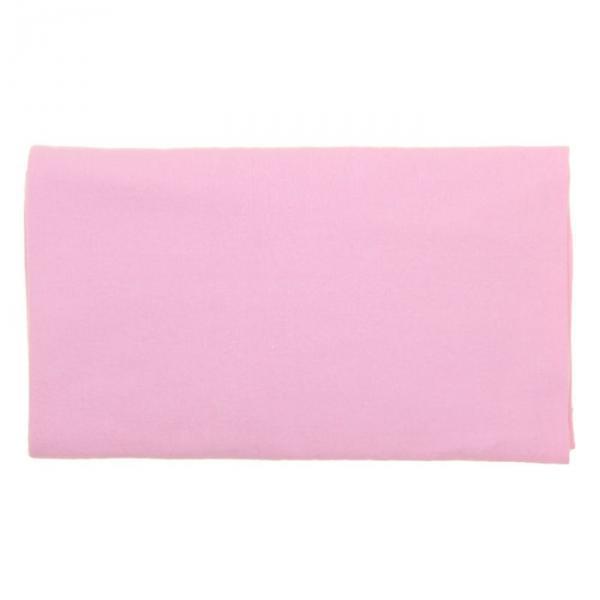 Пеленка детская фланелевая, размер 75*120 см, цвет розовый 12402-С