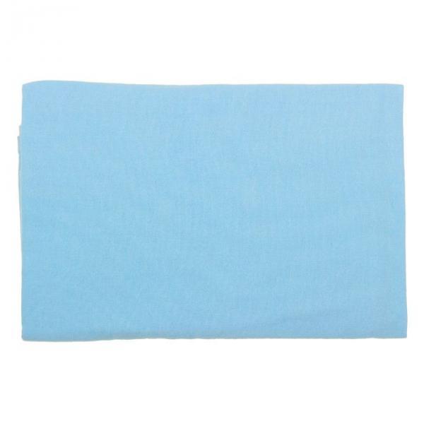 Пеленка детская фланелевая, размер 75*120 см, цвет голубой 12402-С